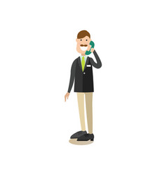 Hotel receptionist concept in vector