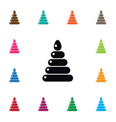 Isolated pyramid icon fun element can be vector