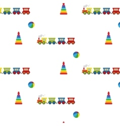 Pyramid ball and locomotive vector