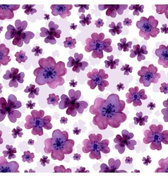 Seamless pattern from water color flowers vector