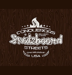 Skateboard emblem for t shirt vector