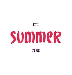 Summer lettering design vector