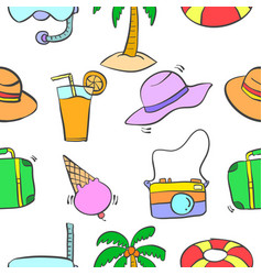 summer object pattern vector image