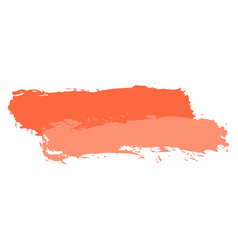Two red tint brushstroke paint vector
