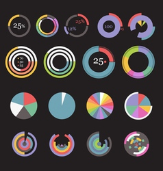 Circle chart templates collection vector image