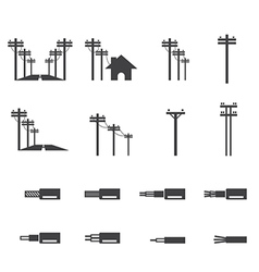 Electricity post icon vector