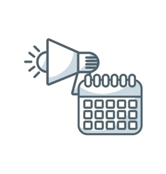 Calendar reminder flat icon vector