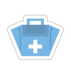 Cartoon first aid kit case vector