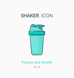 Sport shaker icon isolated on white vector