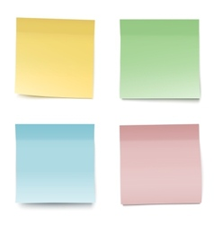 Colorful paper notes vector