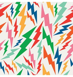 Colorful retro bolt seamless pattern vector image