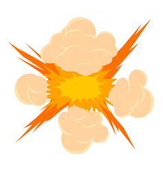 Bomb explosion icon cartoon style vector