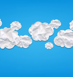 Clouds from crushed paper vector