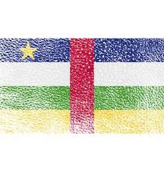 Flag of central african republic with old texture vector