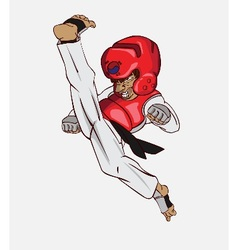 Taekwondo martial art vector