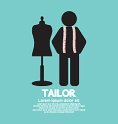 Black symbol tailor with mannequin vector
