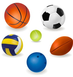 Big set of sport balls vector