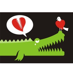Alligator love vector