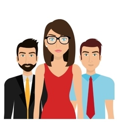 Business people and teamwork vector