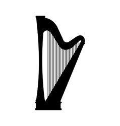 Harp black icon vector image