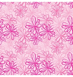 pink flowers seamless 380 vector image