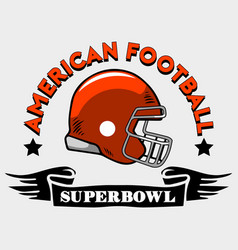 American football helmet badge vector