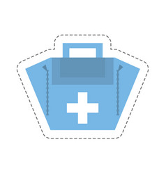 Cartoon first aid kit case vector