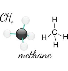 CH4 methane molecul vector image