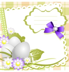 Easter day card or background vector image vector image