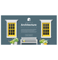 elements of architecture window background 12 vector image