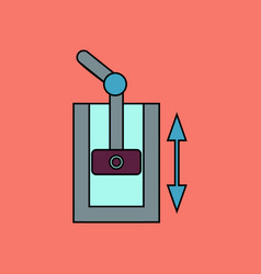 Flat icon design collection pressure in engine vector