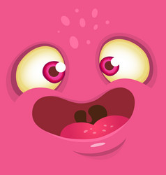 Funny cartoon monster face vector