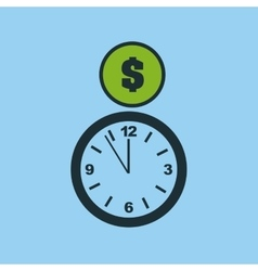 Hand hold clock money time vector