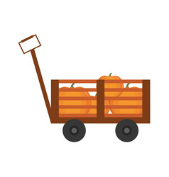 Handcart icon image vector