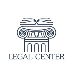 Legal center isolated icon or emblem vector