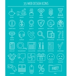 Linear web design icons line icons for business vector