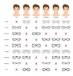 man sunglasses shapes 5 vector image vector image