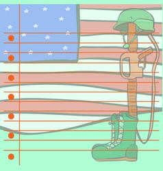 Memorial day greetig card style vector