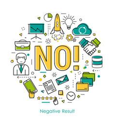 negative result - linear concept vector image