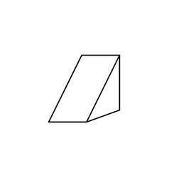 Prism icon vector