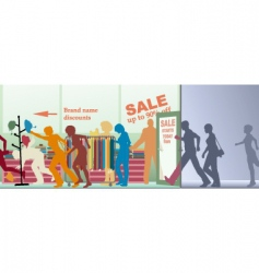 sale opens vector image