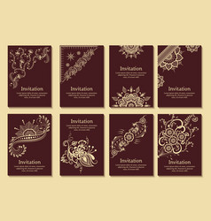 set of wedding invitations and vector image vector image