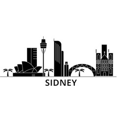 sidney architecture city skyline travel vector image