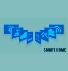 Sign the card fansmart home set vector