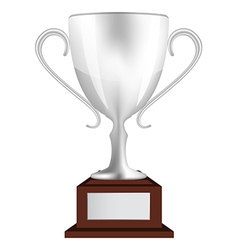 Silver winners cup vector image vector image