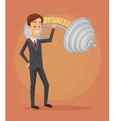Successful businessman office worker character vector