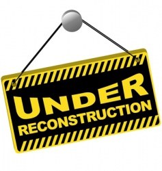 under reconstruction sign vector image vector image
