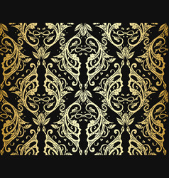 Victorian ornate wallpaper vector
