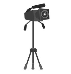 video camera on the tripod vector image vector image