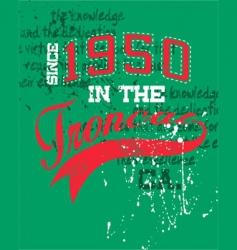 vintage sports design vector image vector image